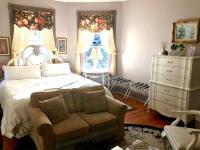 Easton Room - Bed, seating area w/sleeper sofa, antique tall dresser