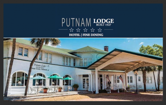 Front of lodge
