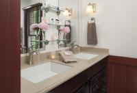 Double sink in the bathroom