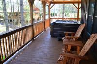 vacation cabin rental in Asheville, NC with hot tub