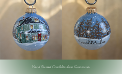 Candlelite Inn Bed & Breakfast Hand Painted Ornament