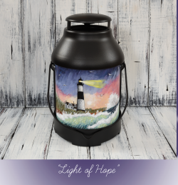 Light of Hope: Hand Painted Big Sable Lighthouse Lantern