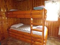 Cabin #3 Middle Bedroom - Includes twin bunk bed