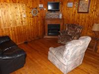 Cabin #5 Living Room / gas fireplace