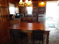 Cabin #3 - Complete kitchen/dining room view