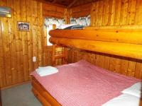 Cabin #1 Bedroom full size bed with twin top bunk
