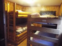 Cabin #5 middle bedroom has 2 twin size bunk beds