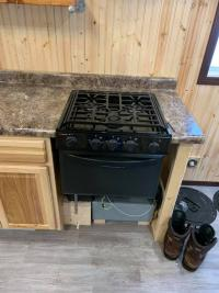 Oven with cooktop