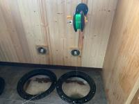 4 rattle reels with hole lights