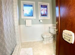 Bathroom shared by Rose and Flower rooms.