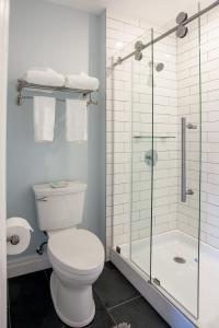 Towel rack, glass shower door