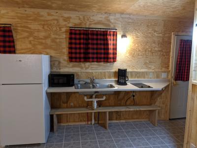 New River Cabin # 8 kitchenette area