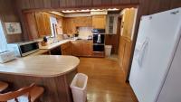 Spacious complete kitchen.