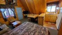 Kitchen, dinette, living area with gas-log fireplace, Cable TV & WiFi.