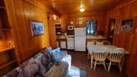 A look at the kitchen and dining from the living area.