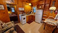 Kitchen, dinette and living area.