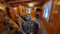 Living Area, Gas-log Fireplace, Cabin TV & WiFi