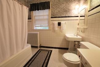 Your private bath is the original second floor bath.
