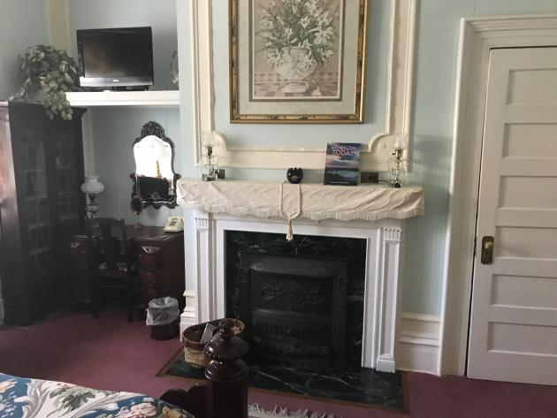 Fireplace with Desk