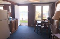 Showboat Motel: Room 3 - Kitchen Area and Lake View