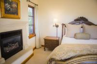 Lucca Guest Suite, View of Bedroom & Fireplace, The Canyon Villa, Paso Robles