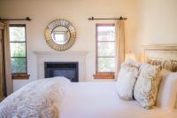 Cortona Guest Suite, View of Fireplace & Bed, The Canyon Villa, Paso Robles