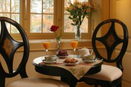 English Manor Suite Breakfast Table